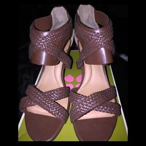 Naturalizer brown braided leather sandals